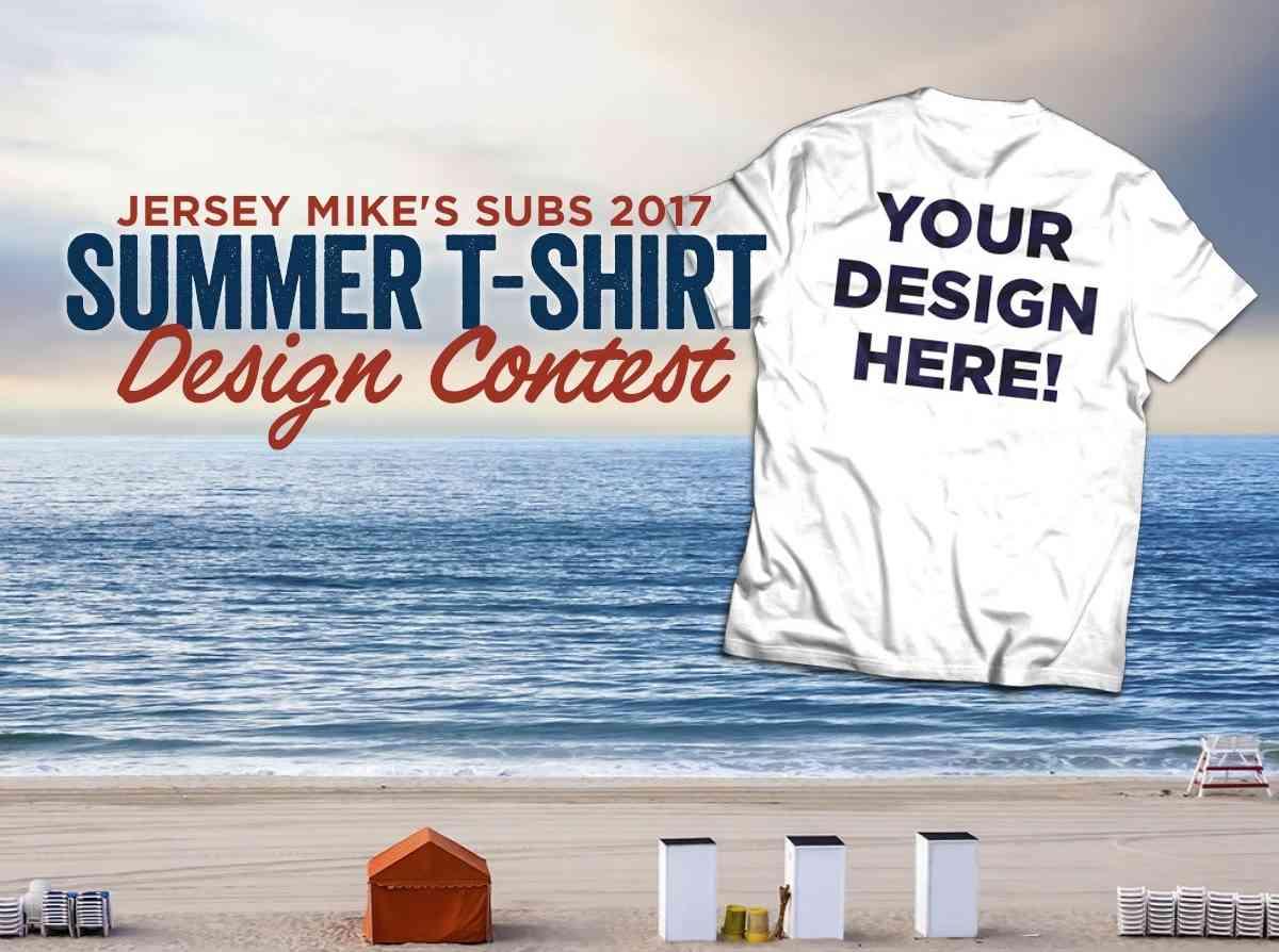 Shirt design envelope -  Send A Self Addressed Stamped Envelope To Attention Jersey Mike S Summer Seventeen T Shirt Design Contest Winner C O 2251 Landmark Place Manasquan