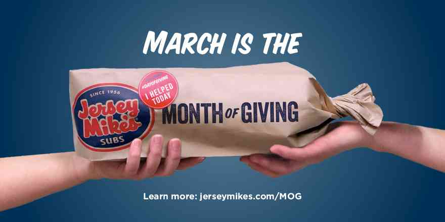 March is the Month of Giving