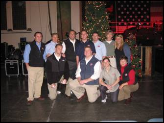 Volunteers from the Manasquan, NJ Home Office at Holiday Express Event Sunday, December 7, 2008.