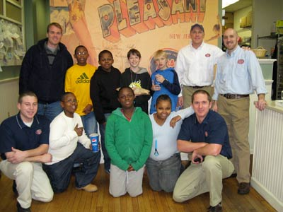 "Members from Boys & Girls Clubs of America (BGCA, getdate(), getdate() ), such as this group from the Salvation Army Boys & Girls Club of Greenville (SC, getdate(), getdate() ), visited local Jersey Mike's Subs to hear stories of entrepreneurism, see how the business is run and try their hand at making authentic subs. This was part of Jersey Mike's national fundraising initiative which raised $50,000 in the first quarter of 2009 for the organization. For the first time, the company rallied its entire national network of franchise owners to action to support a singular cause. ""We are huge proponents of mentoring, which is why we are so inspired by the work of Boys & Girls Clubs,"" said Jersey Mike's founder Peter Cancro. He started the sub business when he was only 17 and credits an important mentor – his football coach - for believing in him and supporting his dreams."