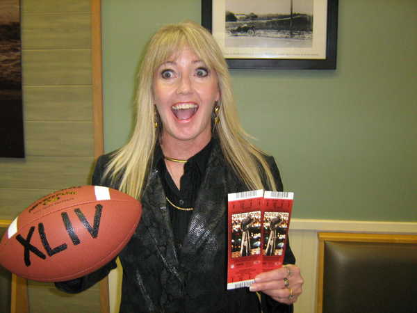 Chris Murtha reacts to the news that she won a trip to the Super Bowl from Jersey Mike's in Rock Hill.
