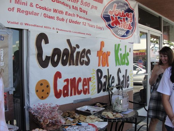 The Cookies for Kids' Cancer club has raised more than $4,000 since the beginning of the school year.