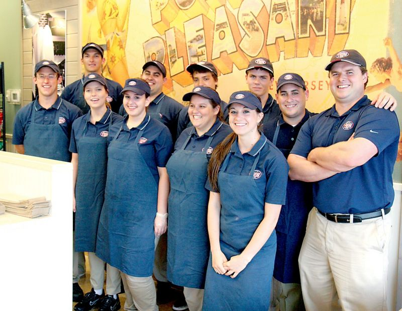 The Jersey Mike's team celebrated the grand opening of the franchise's Lavallette store with a 'family and friends' party held at the Grand Central Avenue location on Monday evening.